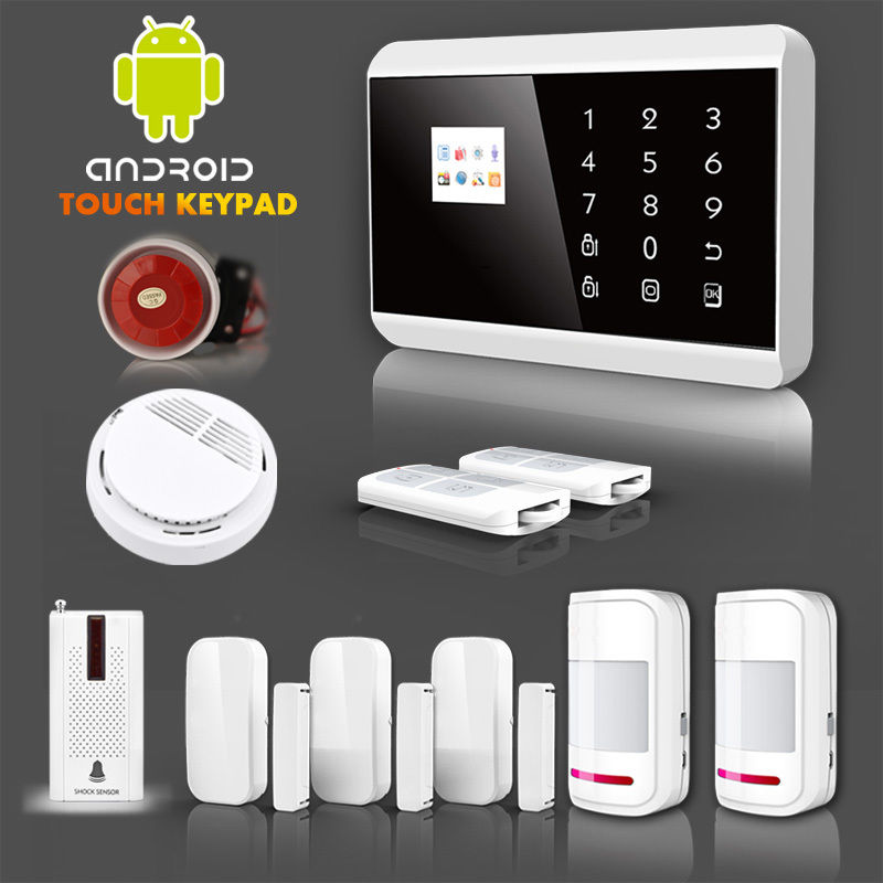 APP Control Touch Keypad GSM SMS Home House Security Alarm System Auto  Dialer,wholesale Cheap Discount Price.