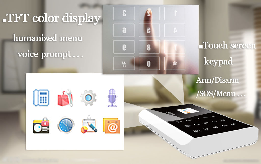 App Remote Control Wireless And Wired Gsm Sms Pstn Home