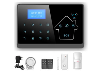 GSM quad-band and PSTN dual network alarm system